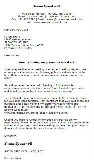 sample introduction letter as a contingency speaker